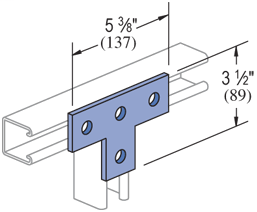 Mayer-4 Hole, Flat Plate Fitting Electro-Galvanized (EG) (25/CTN)-1