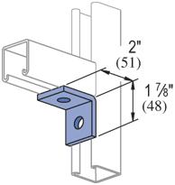 UNISTRUT 2 Hole, 90° Fitting Electro-Galvanized (EG) (50/CTN)