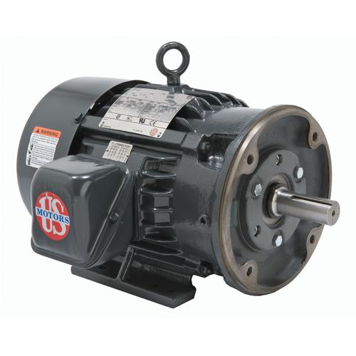5 HP,1760 & 1440 RPM,H5P2DC,208-230/460 & 190/380 V,60 & 50,184TC