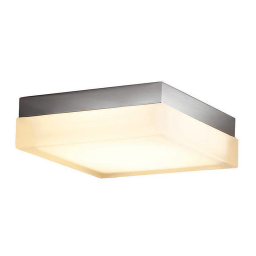 "WAC FM-4006-30-BN BRUSHED NICKEL 6"" SQUARE FLUSH WITH 16W 3000K LED"