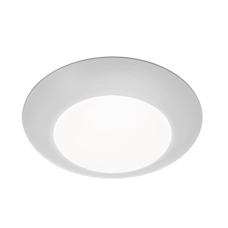 """Disc 4"""" Energy Star LED Flush Mount 3000K Soft White in White"""
