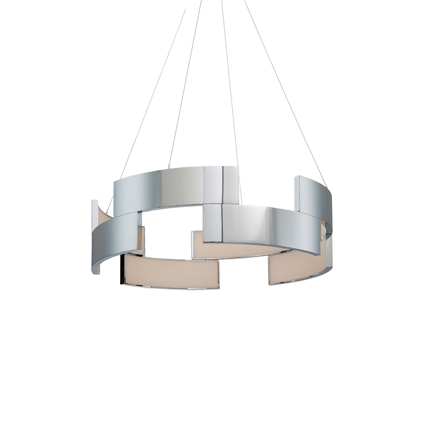 Trap 20in LED Pendant 3000K in Chrome
