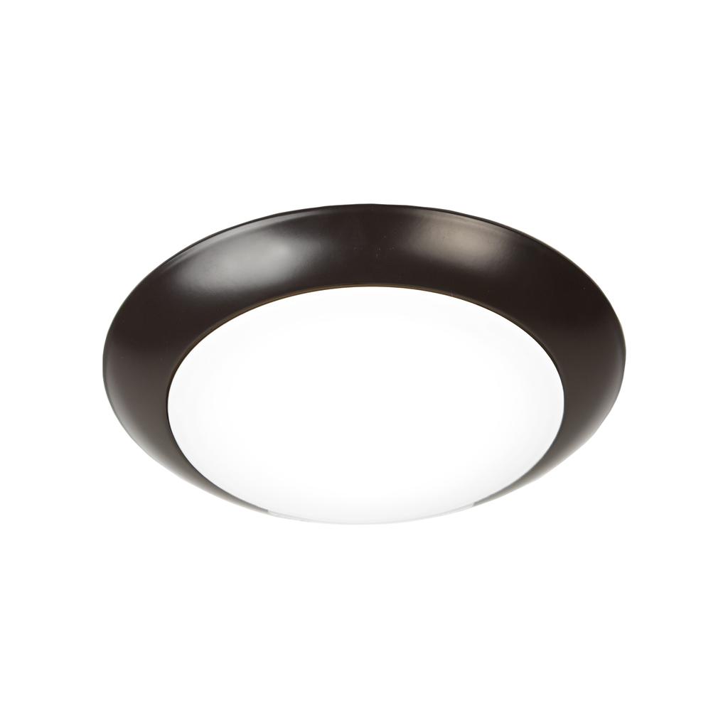 Disc Energy Star LED Flush Mount 3000K Soft White in Bronze