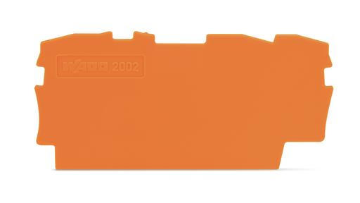 Mayer-TOPJOB®S end/intermediate plate; for 2002-13xx series terminal blocks; 0.8 mm wide; orange-1