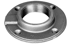 1-1/2 x 4-1/2 Galvanized Floor Flange Malleable Iron