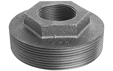 1 x 1/2 x 1/2 Black Tank Bushing, Double Tapped Heavy Type