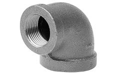 1-1/2 x 3/4 Black 90 Deg Reducing Elbow Cast Iron