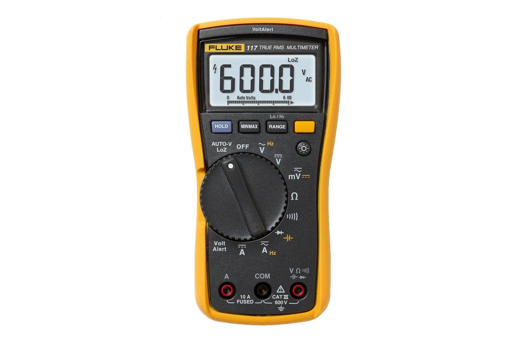 Fluke Electronics FLUKE-117 600 VAC/VDC Electrical Multimeter