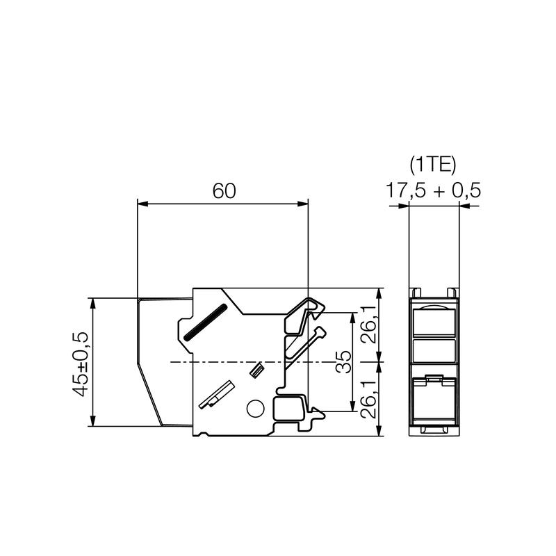 IE-XM-RJ45/IDC-A OUTLET