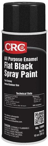 Mayer-All Purpose Enamel Spray Paint-Flat Black, 10 Wt Oz-1