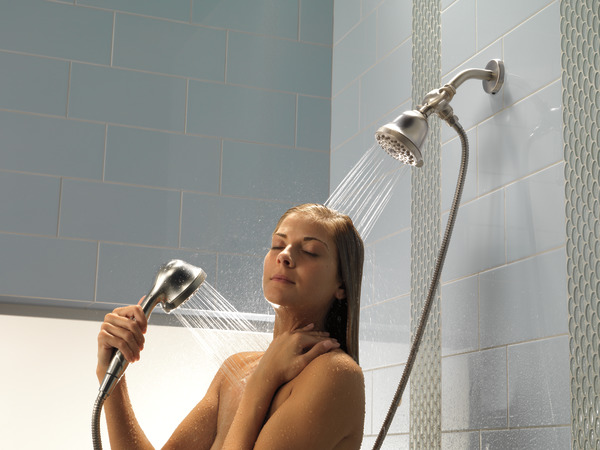 DELTA® U4920-SS-PK 3-Way Shower Arm Diverter With Hand Shower Mount, Brilliance® Stainless Steel