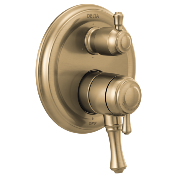 DELTA® T27997-CZ Monitor® 17 Traditional Valve Trim With 6-Setting Integrated Diverter, 5.8 gpm Valve, Brilliance® Champagne Bronze
