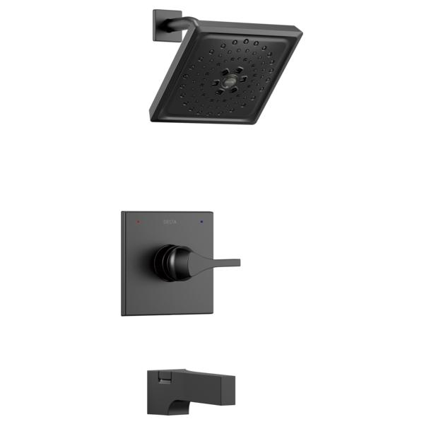 DELTA® T14474-BL 14 Series Tub and Shower Trim, 1.75 gpm Shower, Matte Black