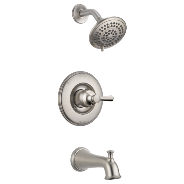 DELTA® T14493-SS Monitor® 14 1-Function Tub and Shower Faucet Trim, 1.75 gpm Shower, Brilliance® Stainless Steel