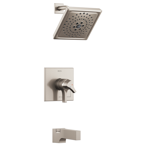 DELTA® T17474-SS Monitor® 17 Tub and Shower Faucet Trim, 1.75 gpm Shower, Brilliance® Stainless Steel