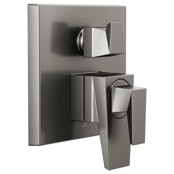 DELTA® T27843-KS Monitor® 17 Series Valve Trim With 3-Setting Integrated Diverter, 5.8 gpm Valve, Black Stainless Steel