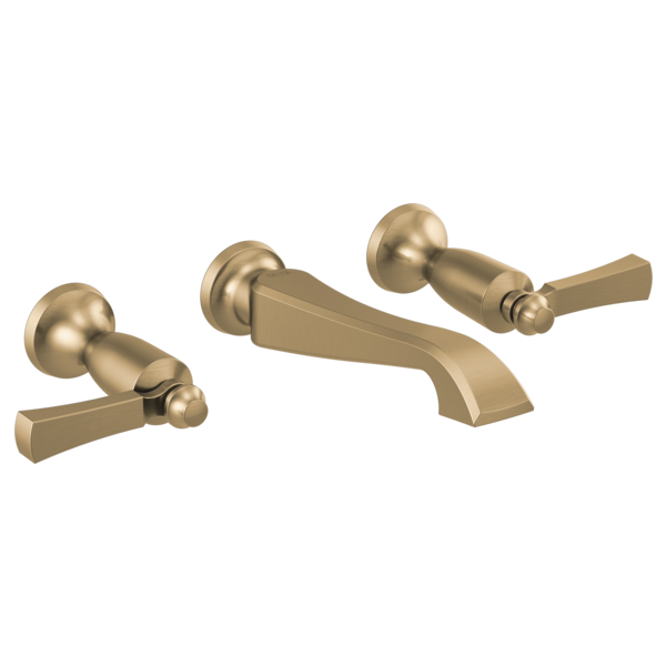 DELTA® T3556LF-CZWL Dorval™ Bathroom Faucet Trim Only, Commercial/Residential, 1.2 gpm Flow Rate, 2-5/8 in H Spout, 8 in Center, Brilliance® Champagne Bronze, 2 Handles, Function: Traditional
