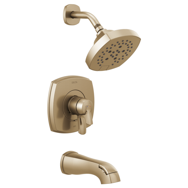 DELTA® T17476-CZ 17 Series Volume Control Tub and Shower Only, 1.75 gpm Shower, Brilliance® Champagne Bronze
