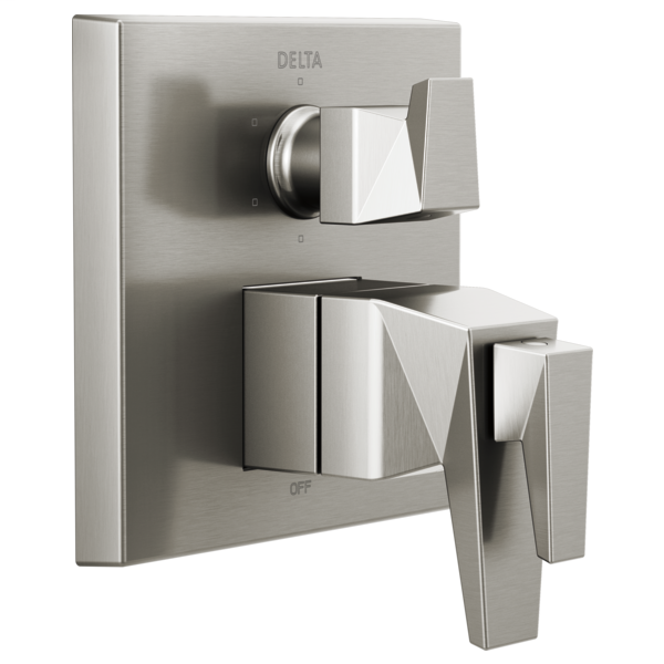 DELTA® T27T943-SS TempAssure® 17T Series Valve Trim With 6-Setting Integrated Diverter, 7.2 gpm Valve, Brilliance® Stainless Steel
