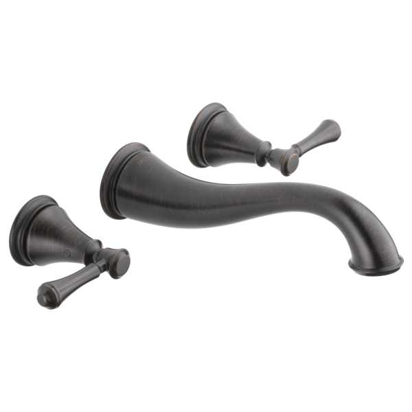 DELTA® T3597LF-RBWL Cassidy™ Lavatory Faucet Trim, Commercial, 1.2 gpm Flow Rate, 8 in Center, Venetian Bronze, 2 Handles, Function: Traditional