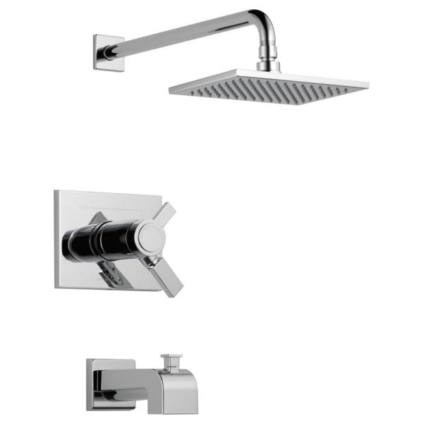 DELTA® T17T453 TempAssure® 17T Tub and Shower Trim, 2.5 gpm Shower, Polished Chrome