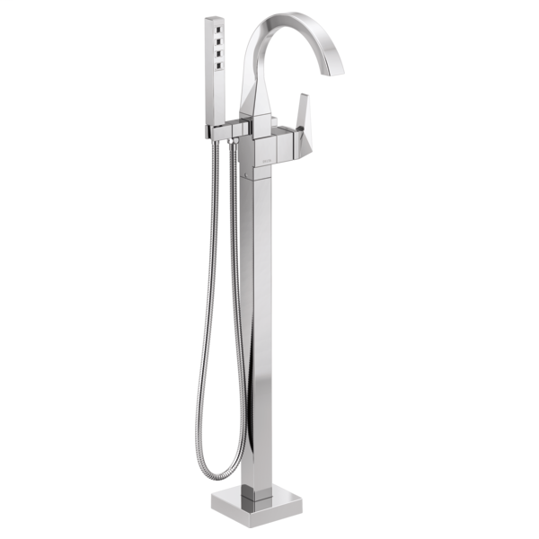 DELTA® T4746-FL Trillian™ Tub Filler Trim, 10 gpm at 60 psi Flow Rate, Polished Chrome, 1 Handle, Domestic