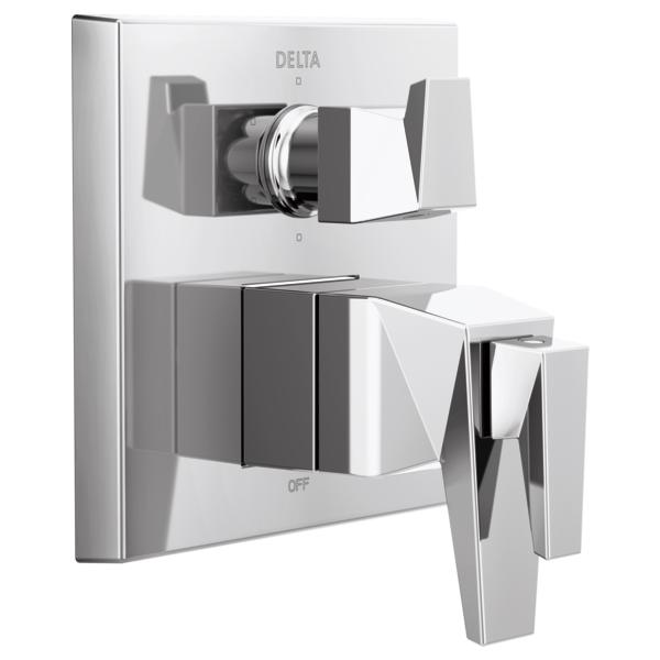 DELTA® T27T943 TempAssure® 17T Series Valve Trim With 6-Setting Integrated Diverter, 7.2 gpm Valve, Polished Chrome