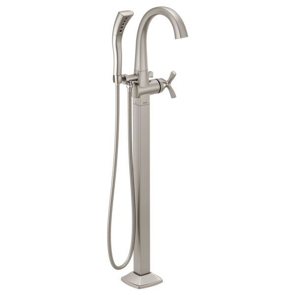 DELTA® T47776-SSFL Stryke™ Tub Filler Trim, 10 gpm at 60 psi Flow Rate, Stainless Steel, 1 Handle, Import