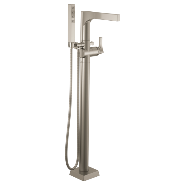 DELTA® T4774-SSFL Zura™ Tub Filler, 2 gpm Flow Rate, Brilliance® Stainless Steel, 1 Handles, Domestic, Commercial