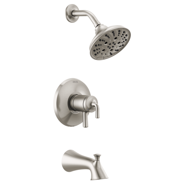 DELTA® T17433-SS Monitor® 17 Series Tub and Shower Trim, 1.75 gpm Shower, Brilliance® Stainless Steel