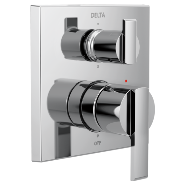 DELTA® T24967 Monitor® 14 6-Setting Angular Modern Valve Trim, Polished Chrome