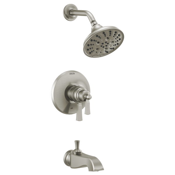 DELTA® T17T456-SS TempAssure® Monitor® 17T Tub/Shower Trim, 8.6 gpm Valve, 1.75 gpm Shower, Brilliance® Stainless Steel
