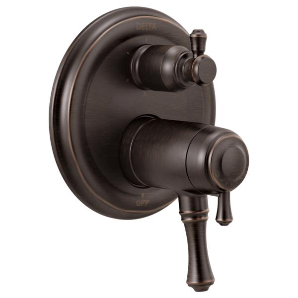 DELTA® T27T997-RB TempAssure® 17T Traditional Valve Trim, Venetian Bronze