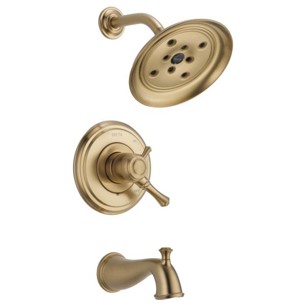 DELTA® T17497-CZ Monitor® 17 Tub and Shower Trim, 1.75 gpm Shower, Brilliance® Champagne Bronze