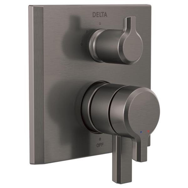 DELTA® T27899-KS Monitor® 17 Integrated Diverter Trim With 3-Function Diverter, Black/Stainless Steel