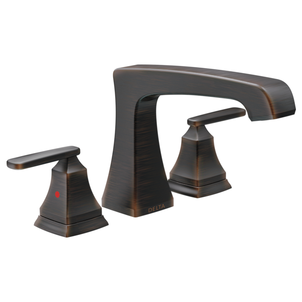 DELTA® T2764-RB Roman Tub Trim, Ashlyn®, 2 gpm Flow Rate, 8 to 16 in Center, Venetian Bronze, 2 Handles, Function: Traditional, Import