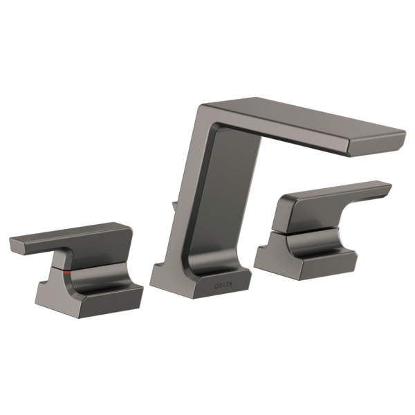 DELTA® T2799-KS Pivotal™ Roman Tub Trim, Commercial/Residential, 8 to 16 in Center, Black/Stainless Steel, 2 Handles, Function: Traditional, Domestic