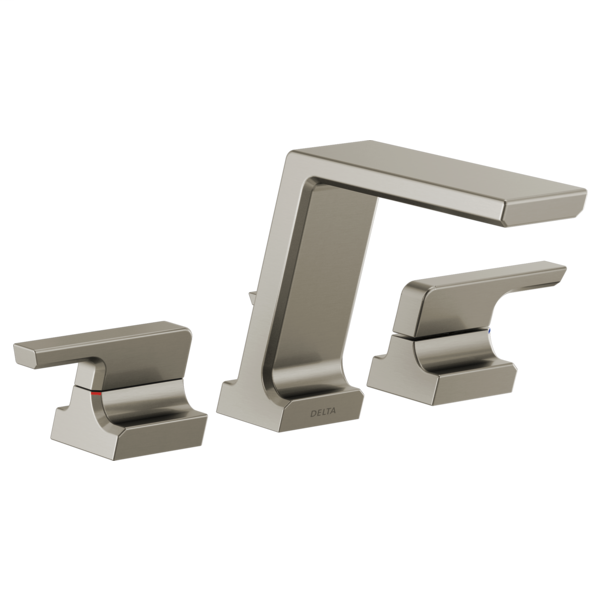DELTA® T2799-SS Roman Tub Trim, Pivotal™, 1.75 gpm Flow Rate, 11 to 16 in Center, Brilliance® Stainless, 2 Handles, Function: Traditional, Domestic