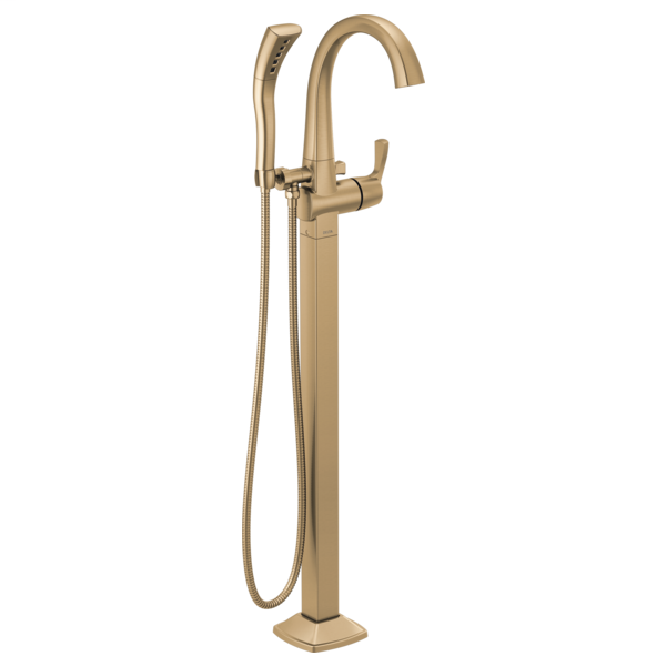 DELTA® T4777-CZFL Stryke™ Tub Filler Trim, 10 gpm at 60 psi Flow Rate, Champagne Bronze, 1 Handle, Import