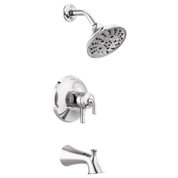 DELTA® T17433 Monitor® 17 Series Tub and Shower Trim, 1.75 gpm Shower, Polished Chrome