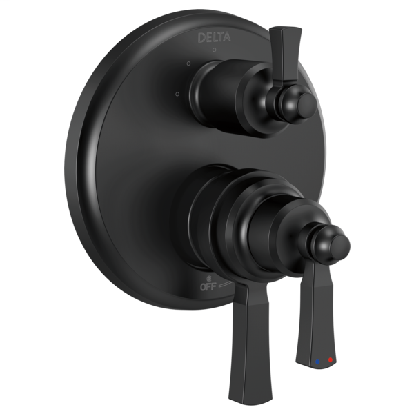 DELTA® T27856-BL Monitor® 17 Traditional Valve Trim With 3-Setting Diverter, 5.8 gpm Valve, Matte Black