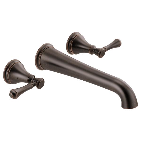 DELTA® T5797-RBWL Tub Filler, Cassidy™, 8 in Center, Venetian Bronze, 2 Handles, Import