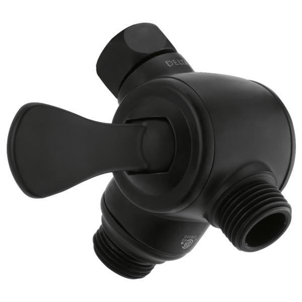 DELTA® U4929-BL-PK 3-Way Adjustable Shower Arm Diverter, Matte Black