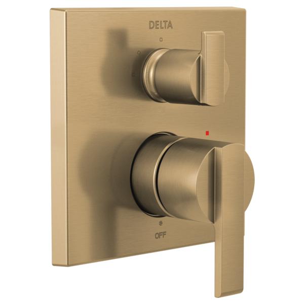 DELTA® T24867-CZ Monitor® 14 Angular Modern Valve Trim With 3-Setting Integrated Diverter, Brilliance® Champagne Bronze