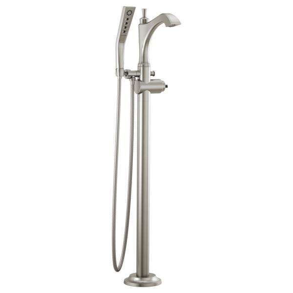 DELTA® T4756-SSLHP-FL Dorval™ Tub Filler Trim, Brilliance® Stainless Steel, Domestic, Commercial/Residential