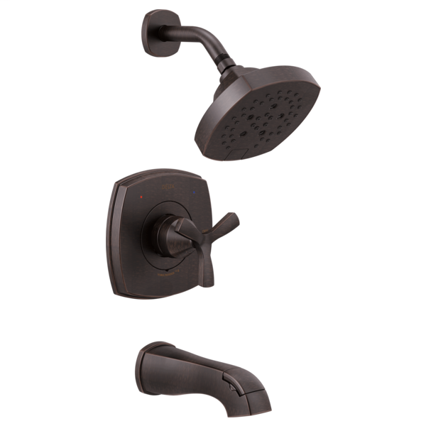 DELTA® T144766-RB Monitor® 14 Series Tub and Shower Trim, 1.75 gpm Shower, Venetian Bronze