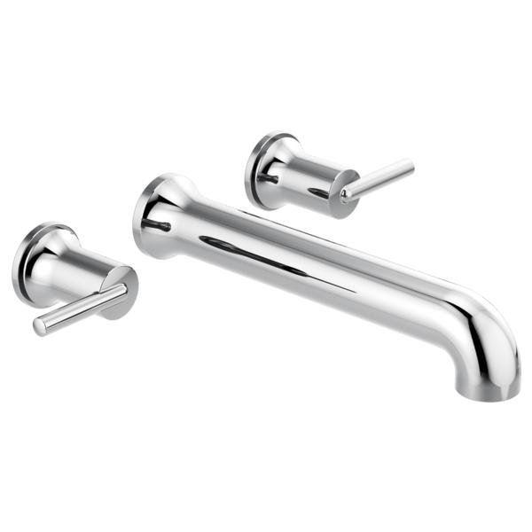 DELTA® T5759-WL Trinsic® Tub Filler, 8 in Center, Polished Chrome, 2 Handles, Import