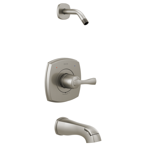 DELTA® T14476-SSLHD 14 Series Tub and Shower, Brilliance® Stainless Steel