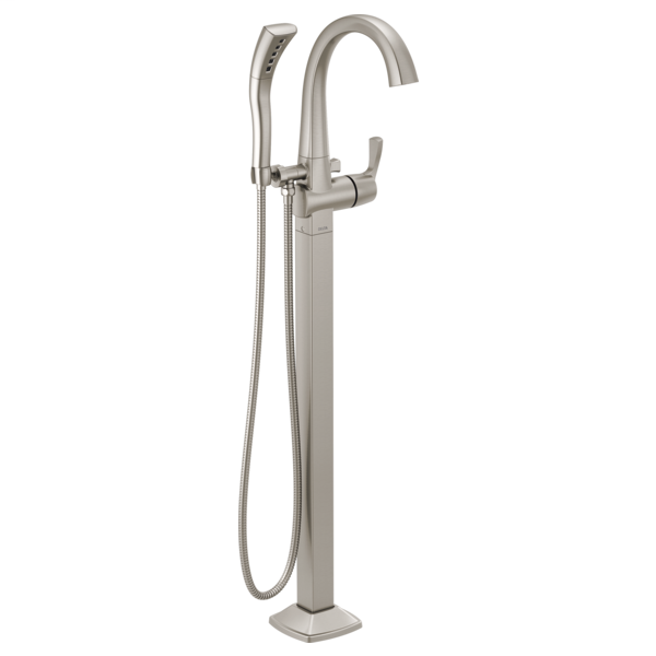 DELTA® T4777-SSFL Stryke™ Tub Filler Trim, 10 gpm at 60 psi Flow Rate, Stainless Steel, 1 Handle, Import