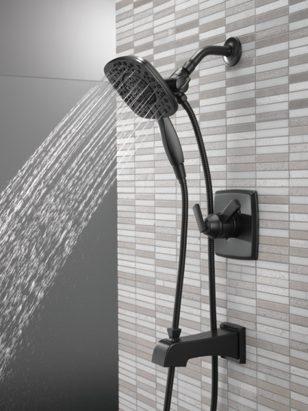 DELTA® T17464-BL-I Monitor® 17 Shower Trim With In2ition® 2-in-1 Shower, 6.2 gpm Valve, 1.75 gpm Shower, Matte Black